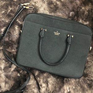 Kate Spade Laptop Bag - Black and Gold